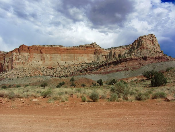 Sandstone Cliffs are Everywhere - Capitol Reef National Park