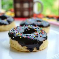 Eggless Baked Donuts (Doughnuts) Recipe with Chocolate Glaze