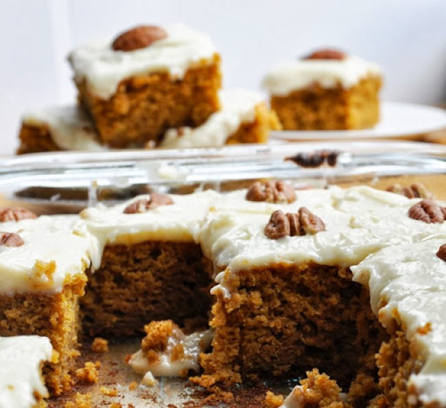 pumpkin cake bars reduced-fat 105