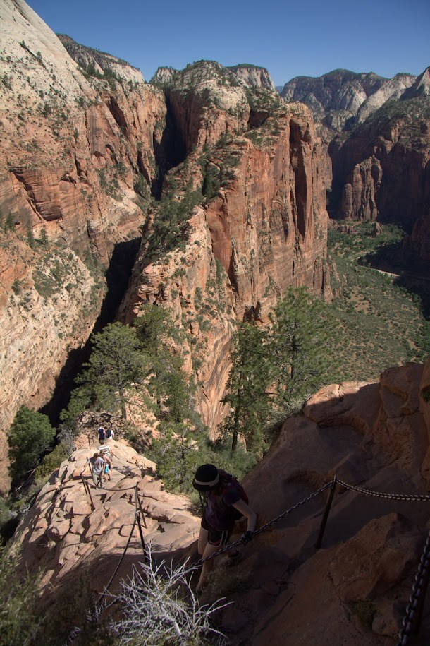 The Path Up (and Down) Angels Landing
