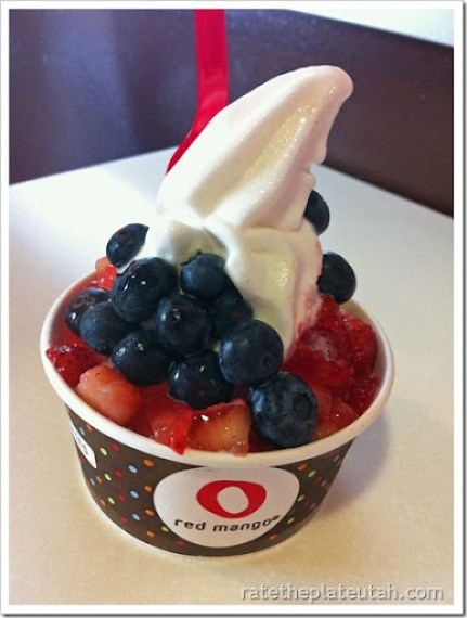 Red Mango White Peach Frozen Yogurt