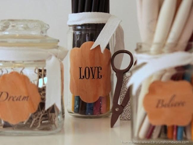 Lifestyle Crafts Wood Labels via homework | www.carolynshomework.com