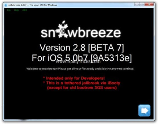  Sn0wbreeze 2.8b7 Released For iOS 5 Beta 7 Jailbreak
