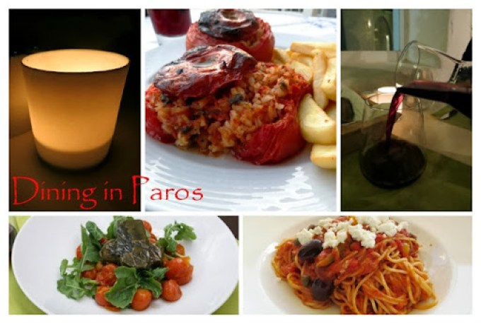 dining in paros