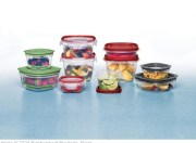 assortment of food storage containers