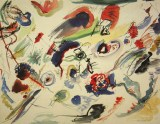 """""""Untitled (First Abstract Watercolor)"""". 1910 year"""