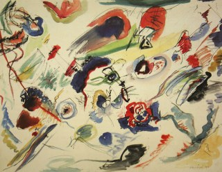 """Untitled (First Abstract Watercolor)"". 1910 year"