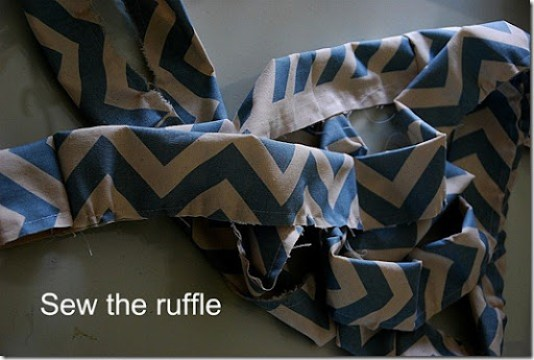 sew the ruffle