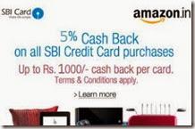 amazon sbi cashback offer