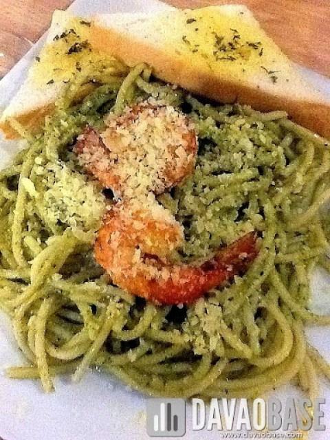Pesto Pasta at Cafe Demitasse (taken using iPad)