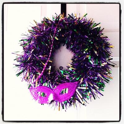 mardis gras wreath