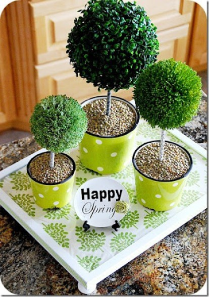frame topiary centerpiece