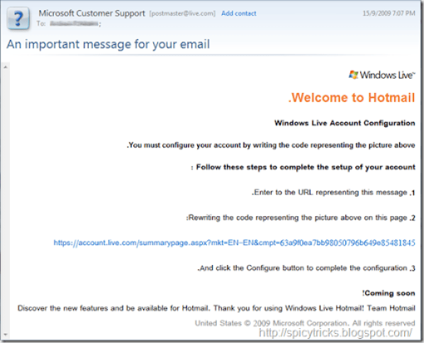 Hotmail phishing attack Explained