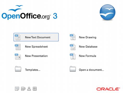 OpenOffice Ventana de Inicio