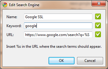 Google SSL in Chrome einstellen