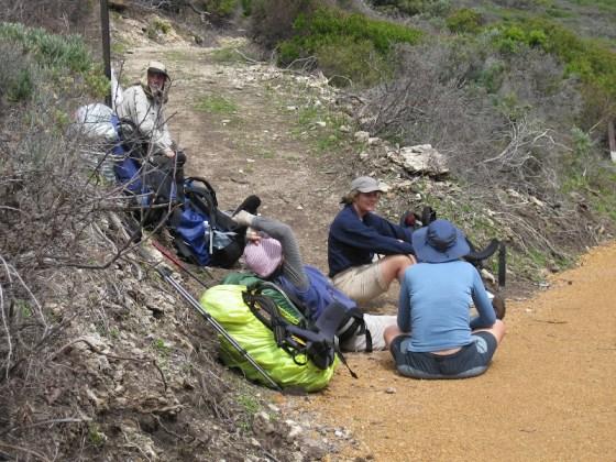 Taking a break, Sugarloaf Rock, Cape to Cape Track