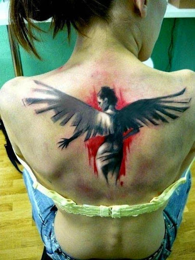 temporary angel tattoos designs on back