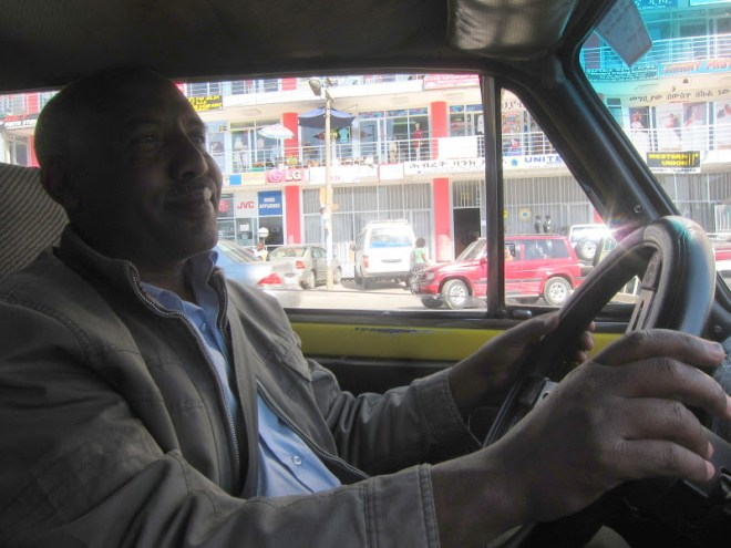 Debebe, a taxi driver in Addis