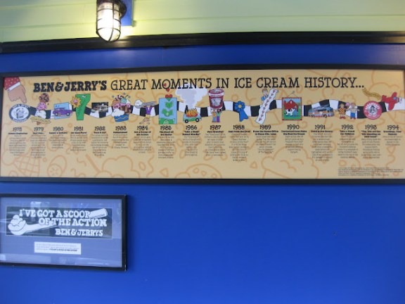Ben & Jerry's great moments in ice cream history