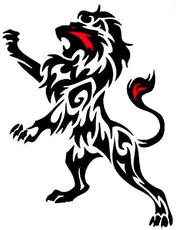 tribal lion tattoos