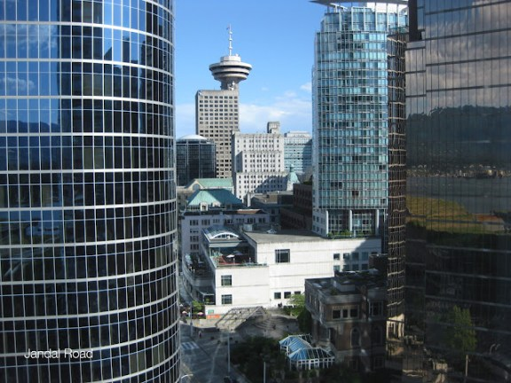 View from the Fairmont Pacific Rim towards Harbour Centre