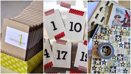 Adventní kalendář z obálek