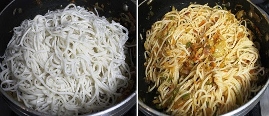 Schezwan Fried Noodles Recipe   Chinese style Spicy Veg Noodles