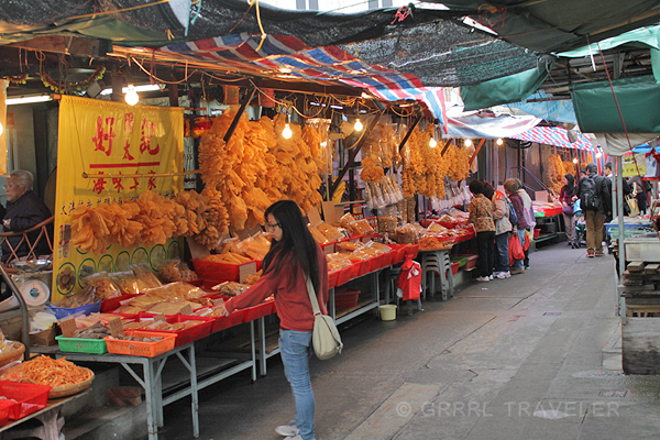 tai o fishing village lantau island hong kong, dried seafood sales tai-o fishing village, dried fish