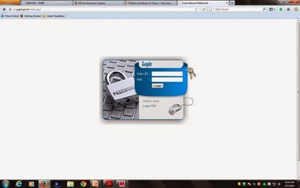 Form Login Portal Billing Pajak