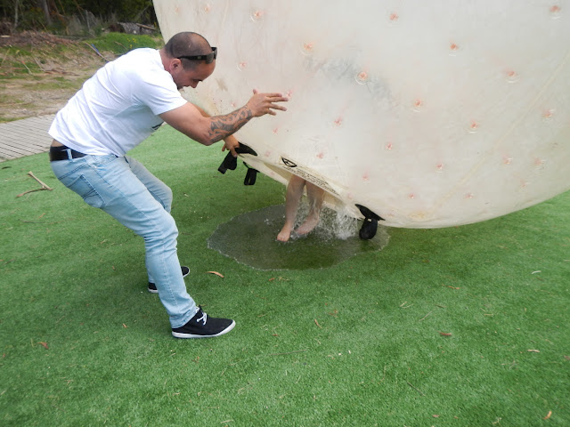 Getting out of the zorb sphere in Rotorua