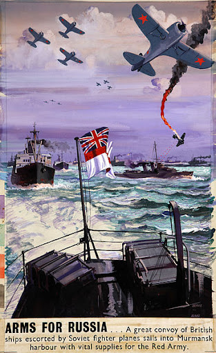 A British wartime poster about the Arctic convoys