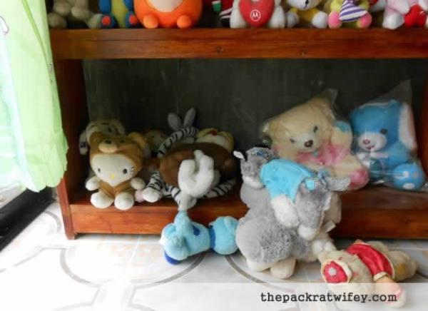 Stuffed Animals and Sleeping Puppy