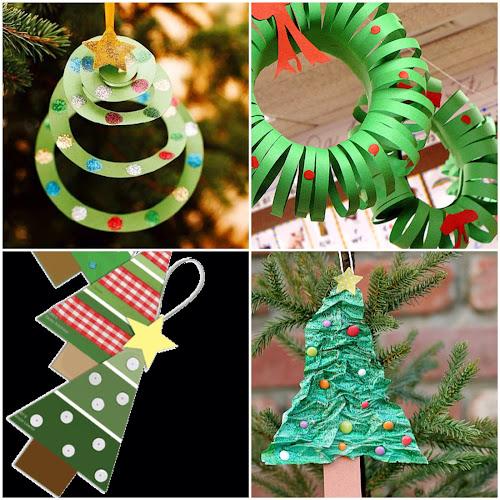 Vánoční ozdoby z papíru jednoduché pro děti