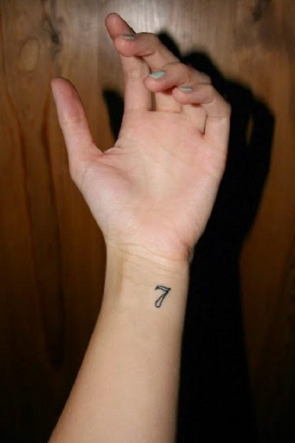 small numbers tattoo ideas