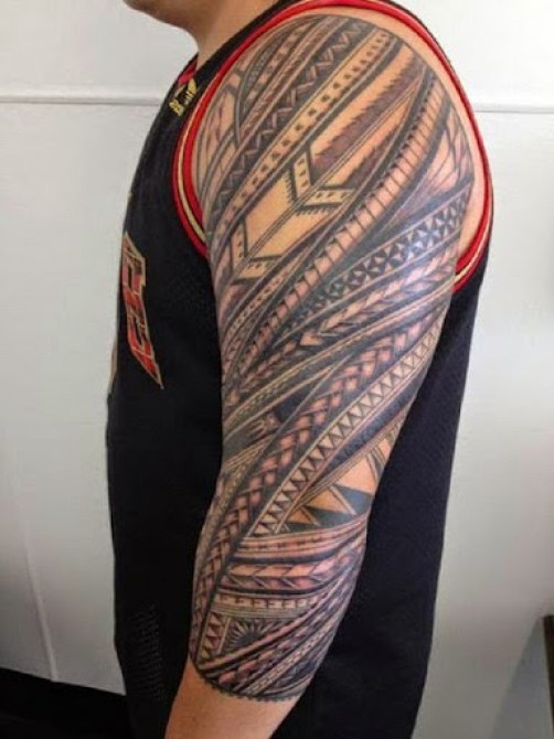 hawaiian tribal tattoos on arm for men