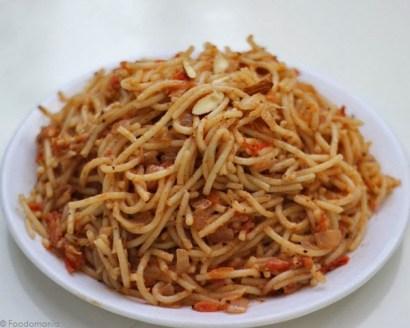 Almond Butter Pasta Recipe | Spaghetti in a quick almond butter sauce