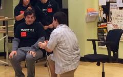 Photo of the day 10/15/2014:  Visiting Towson theater instructs drama students
