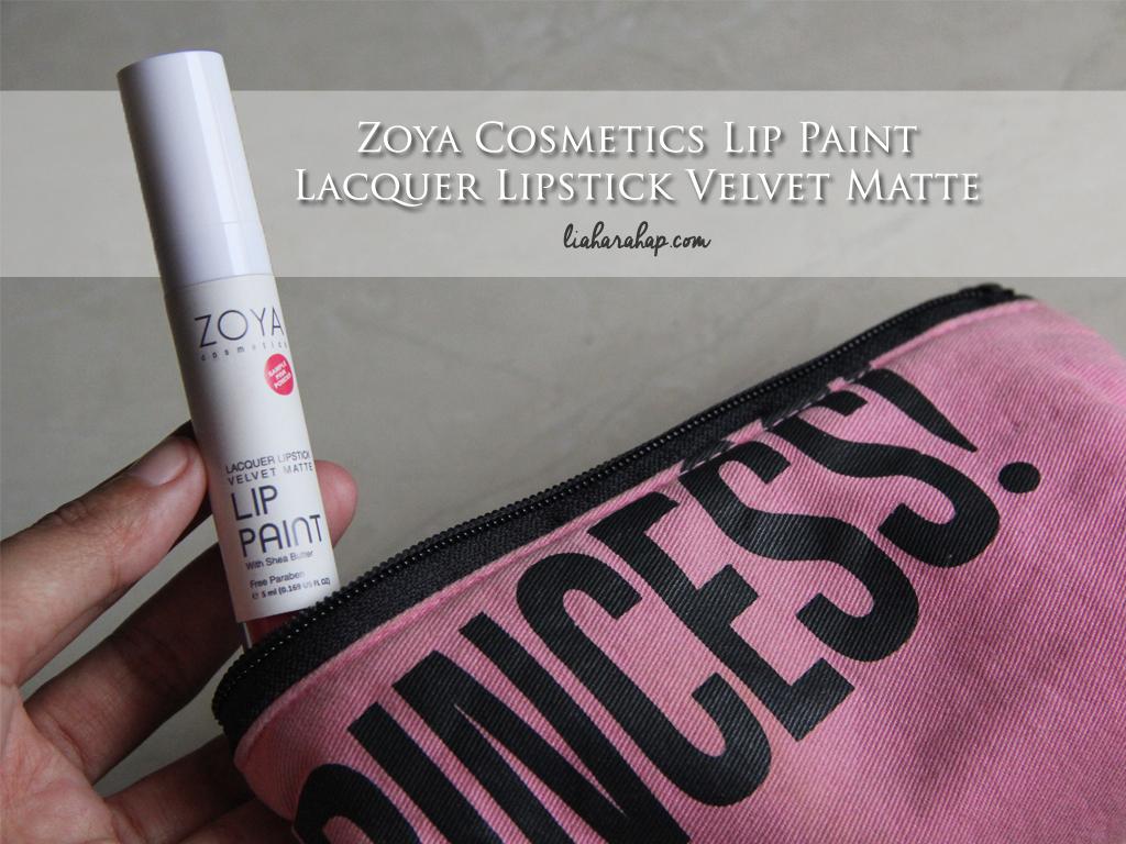 Zoya Cosmetics Lip Paint: Lacquer Lipstick Velvet Matte