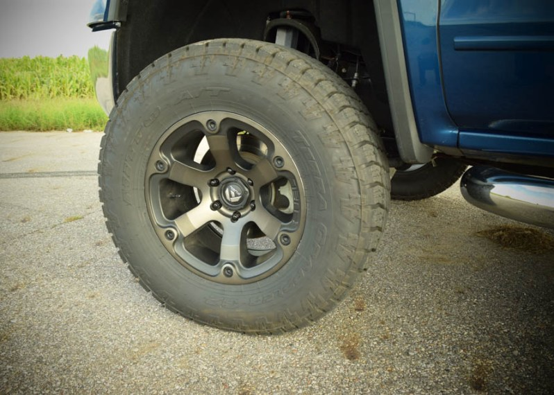 A Guide to GMC Sierra Tires   AmericanTrucks These kinds of upgrades can be quite daunting  but once they re made and  you have those humongous tires  literally nothing can stand in your way