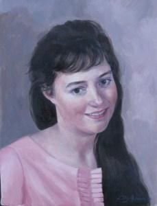 'Sally McVey' Oil 14 x 11in