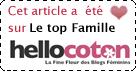 Elu TOP FAMILLE sur Hellocoton