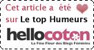 Elu TOP-HUMEURS sur Hellocoton