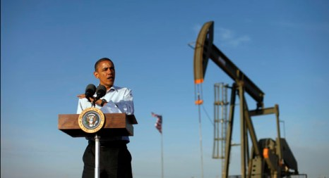 President Barack Obama speaks during his visit to oil and gas production fields located on federal lands outside of Maljamar, N.M., Wednesday, March, 21, 2012. (AP Photo/Pablo Martinez Monsivais)
