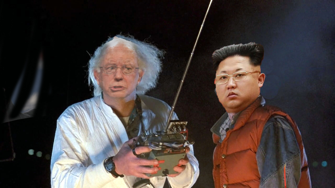 commie bernie sanders and kim jong un