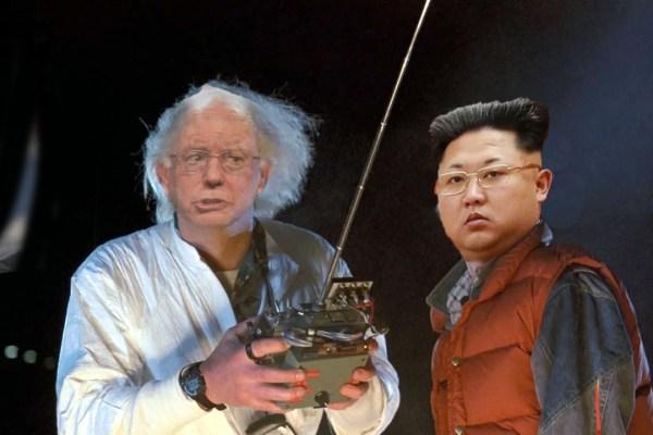 commie bernie sanders and kim jong un