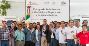 Entrega de Ambulancias a Municipios y Supervisión a Unidades M