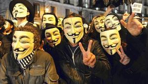 Protesta de Anonymous febrero 2011