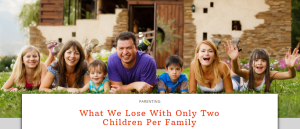 What we lose with only 2 children