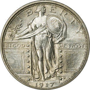 Standing_Liberty_Quarter_Type1_1917S_Obverse