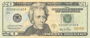 Andrew Jackson on the twenty dollar bill